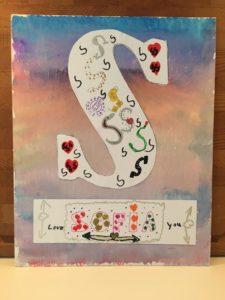 Letter op canvas - Sofia